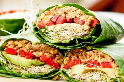 Healthy Vegetarian Wraps