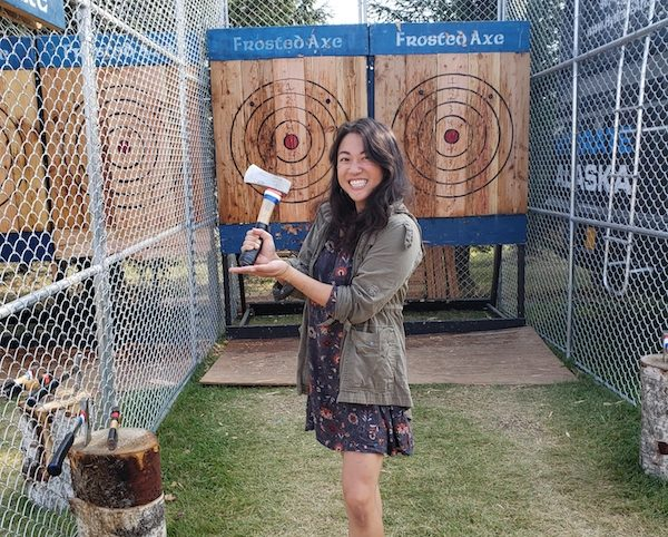 Axe Throwing at Alaska State Fair